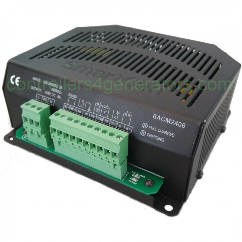 SmartGen BACM1206 Battery Charger, RS485, Power factor compensation, programmable inputs (12V6A)