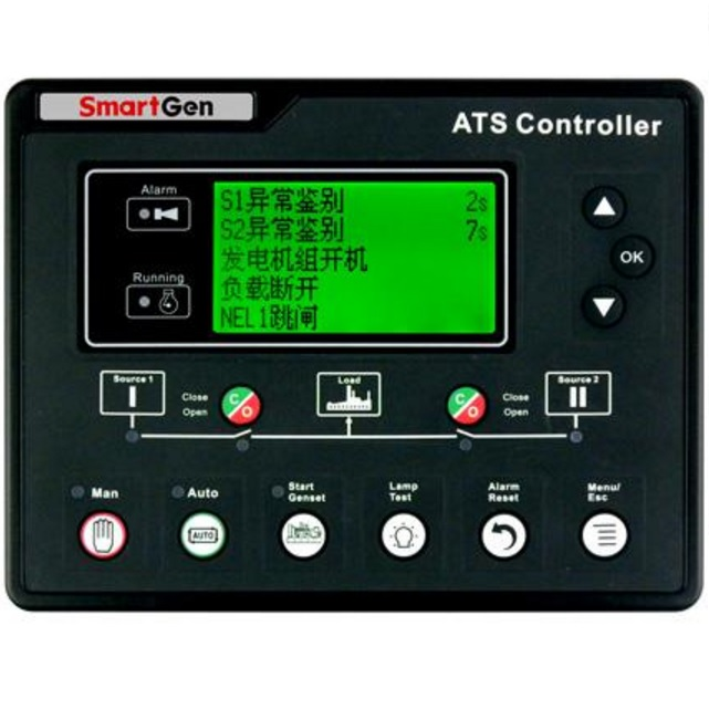 SmartGen HAT700B ATS controller, Silicone panel, Suitable for SGQ ATS, Current detection, AC power-supply